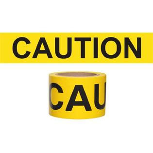 """Caution"" Tape - Safety Banner - Barricade - 3"" x 1000'"