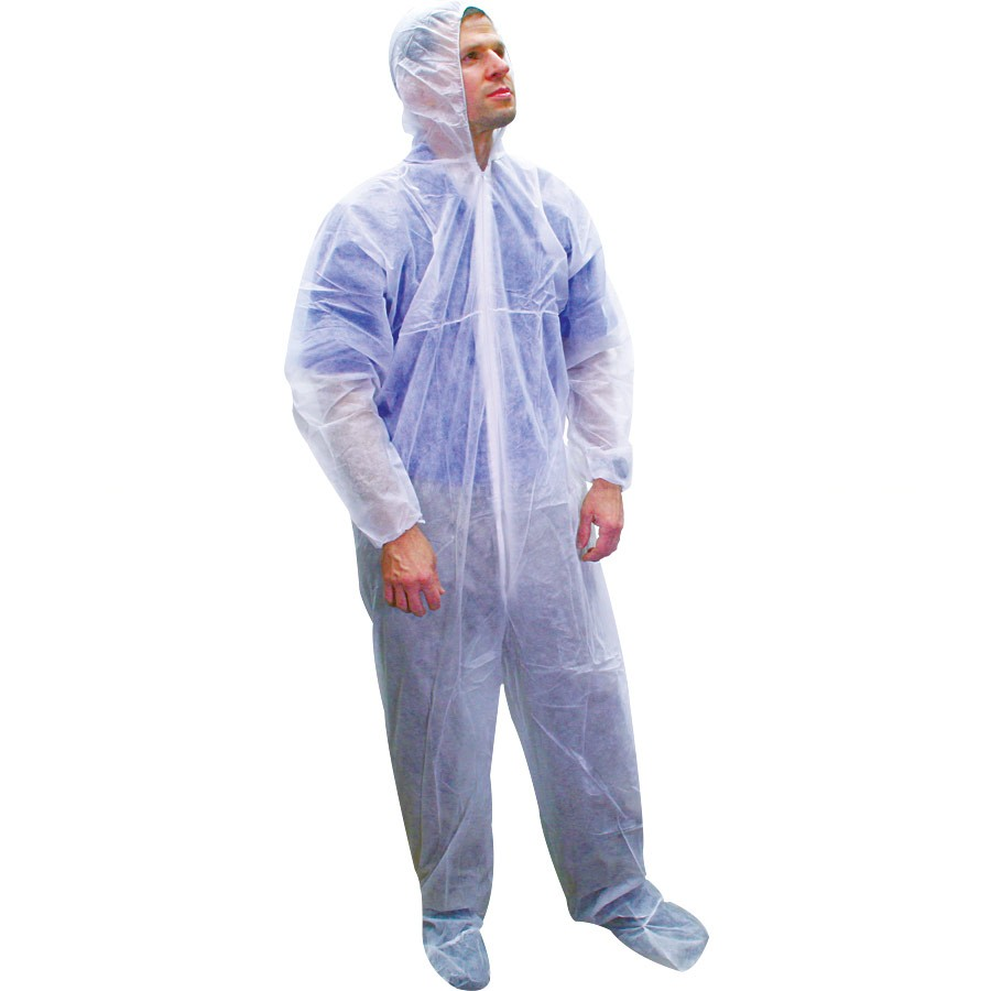 Disposable Paint Suit - Coveralls Hood and Boots - Bulk - 6XL