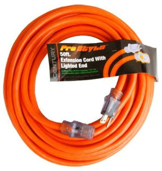 Outdoor Extension Cord – 50 foot – Heavy Duty 12 gauge