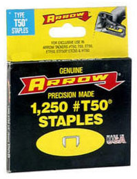 Arrow T50 Staples 1/4""