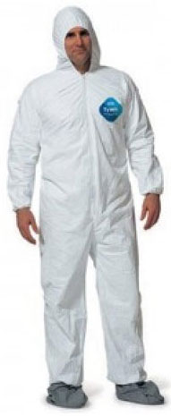 Disposable Coveralls SPUN POLY Propylene W/Hood, Elastic Boot & Wrist 518