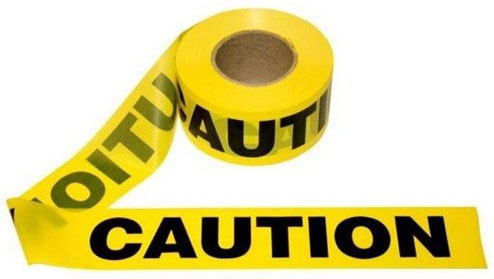 "Harris Caution Tape 3"" x 1000' HARBT5AL"