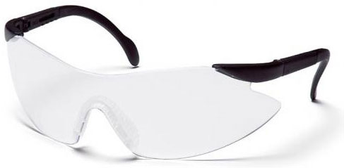 Legacy Clear Lens Black Frame Safety Glasses SB2310S